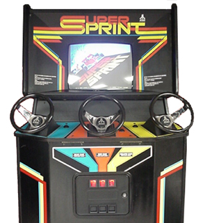 Super Sprint Top 10 Old School 80s Racing Games